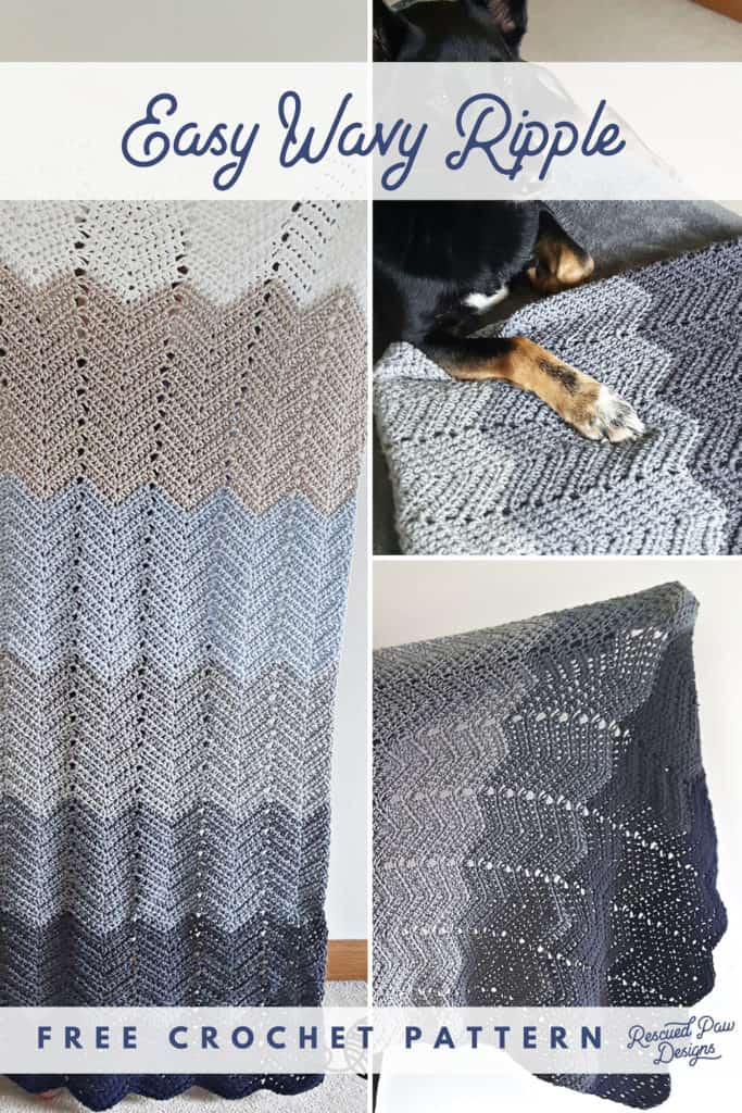 Crochet Ripple Blanket Free Ripple Crochet Throw For Beginners