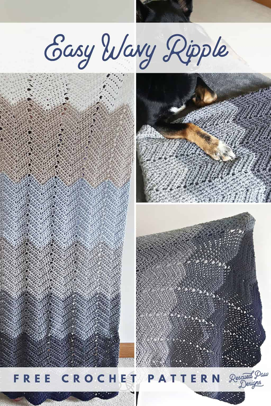 Wavy Ripple Crochet Blanket