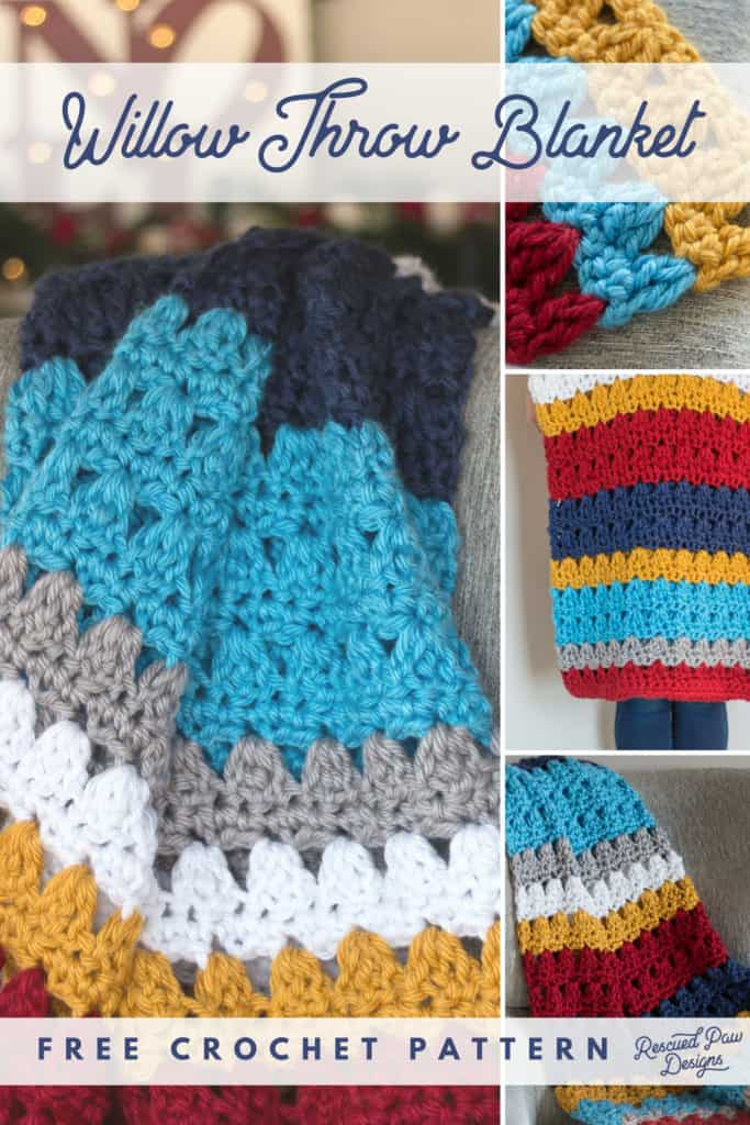 Free Crochet Blanket Pattern in Bright Colors