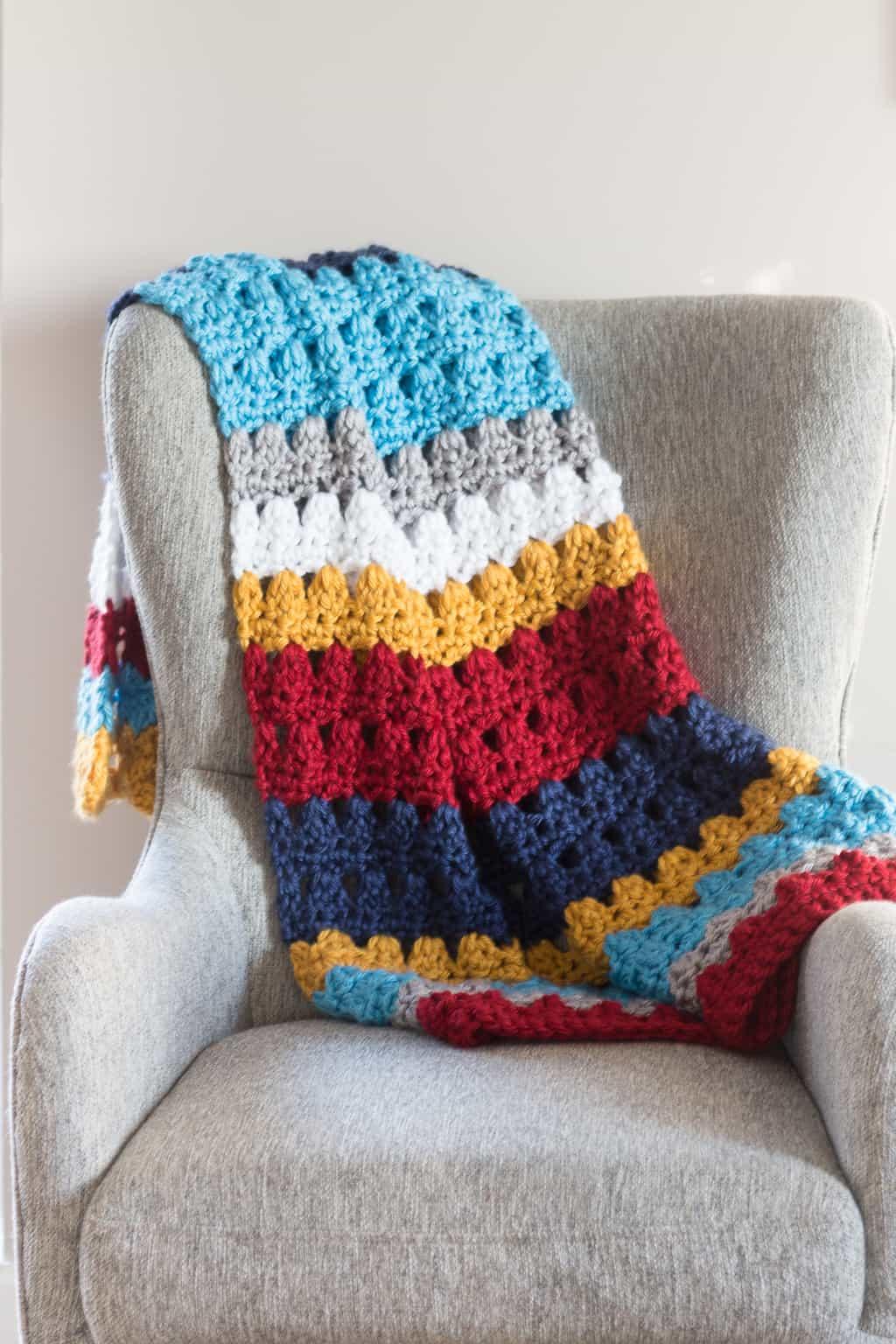 Chunky Crochet Throw Blanket Pattern