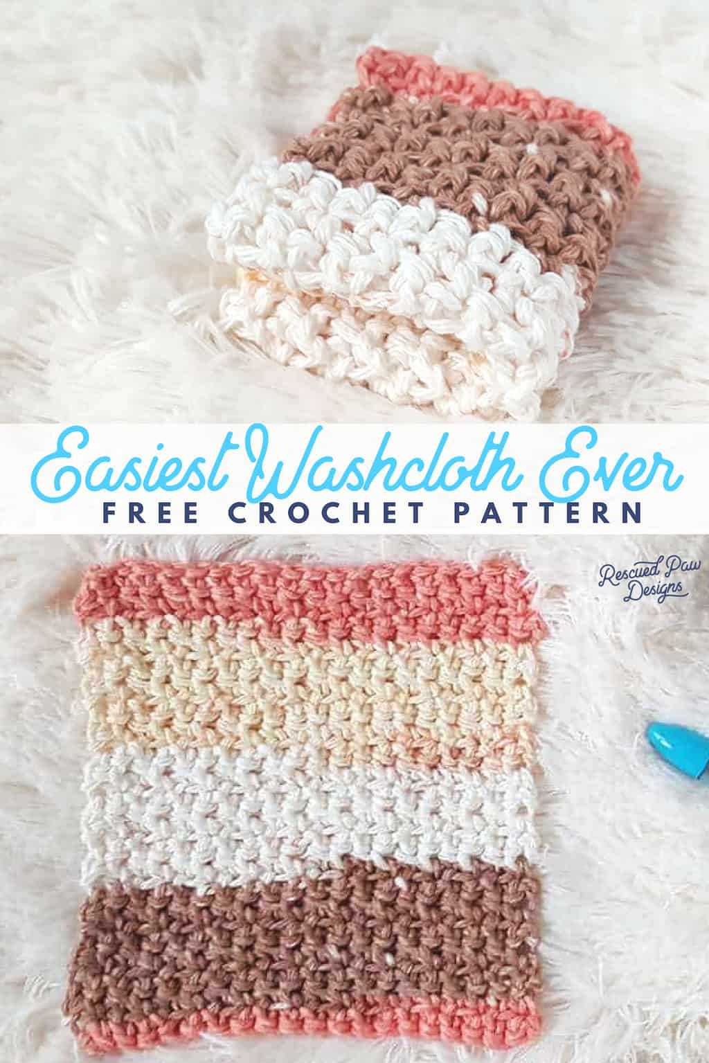 Easiest Crochet WashCloth Pattern