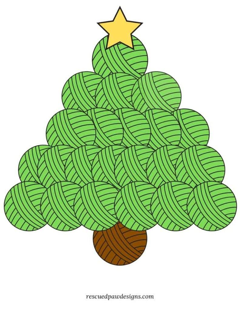 Yarn Christmas Tree Printable