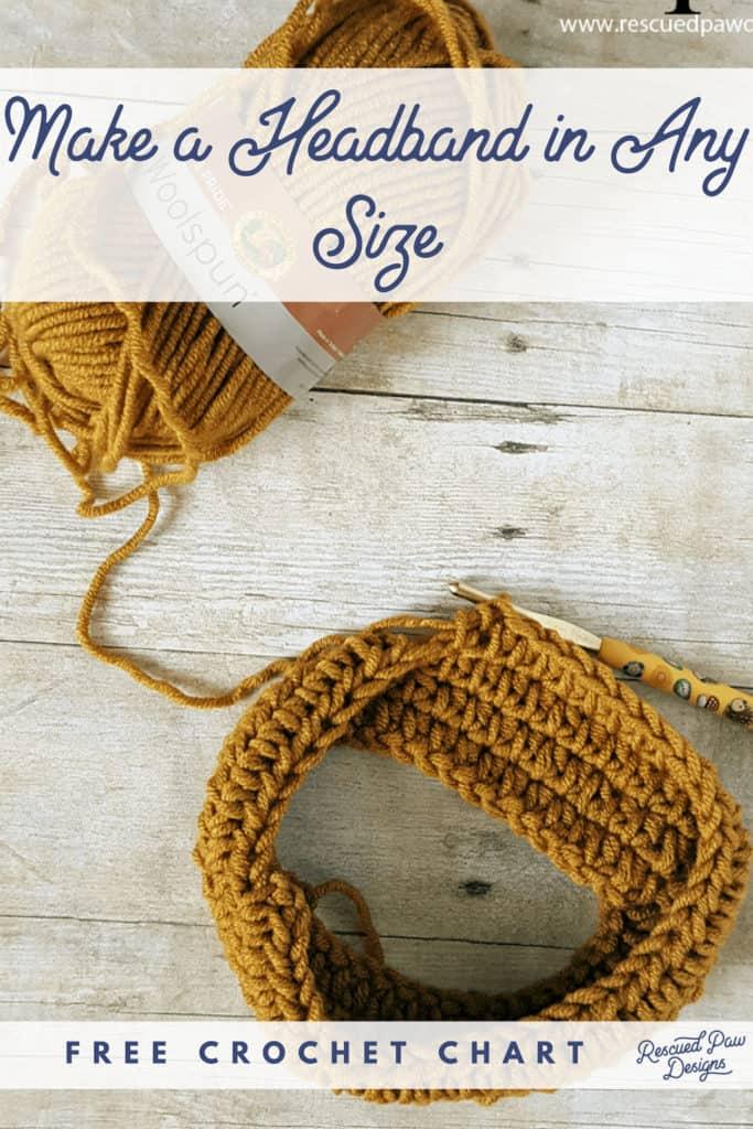 Crochet Headband / Earwarmer Size Chart