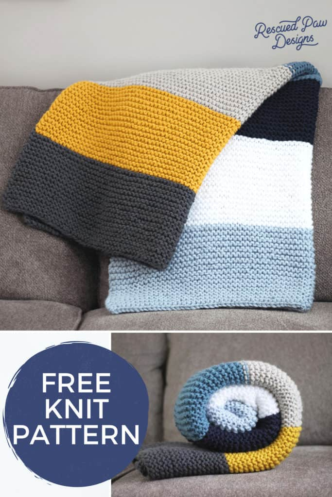 How To Knit A Blanket Free Knitting Pattern Free Step By Step