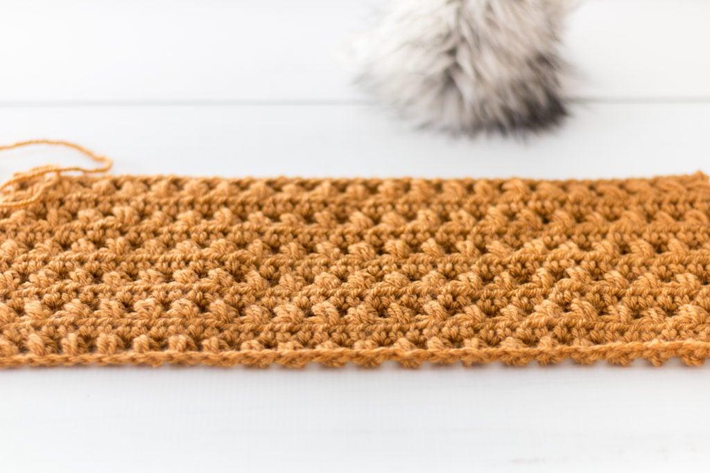 Crochet Puff Hat Before Seaming