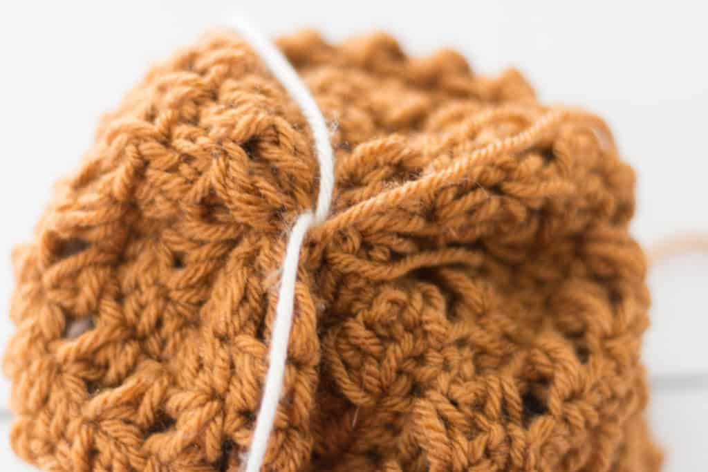 Securely Attach Pom Pom to Top of Crochet Hat