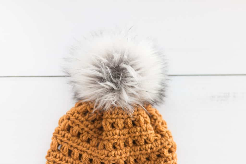 Faux Fur Pom Pom Hat Topper