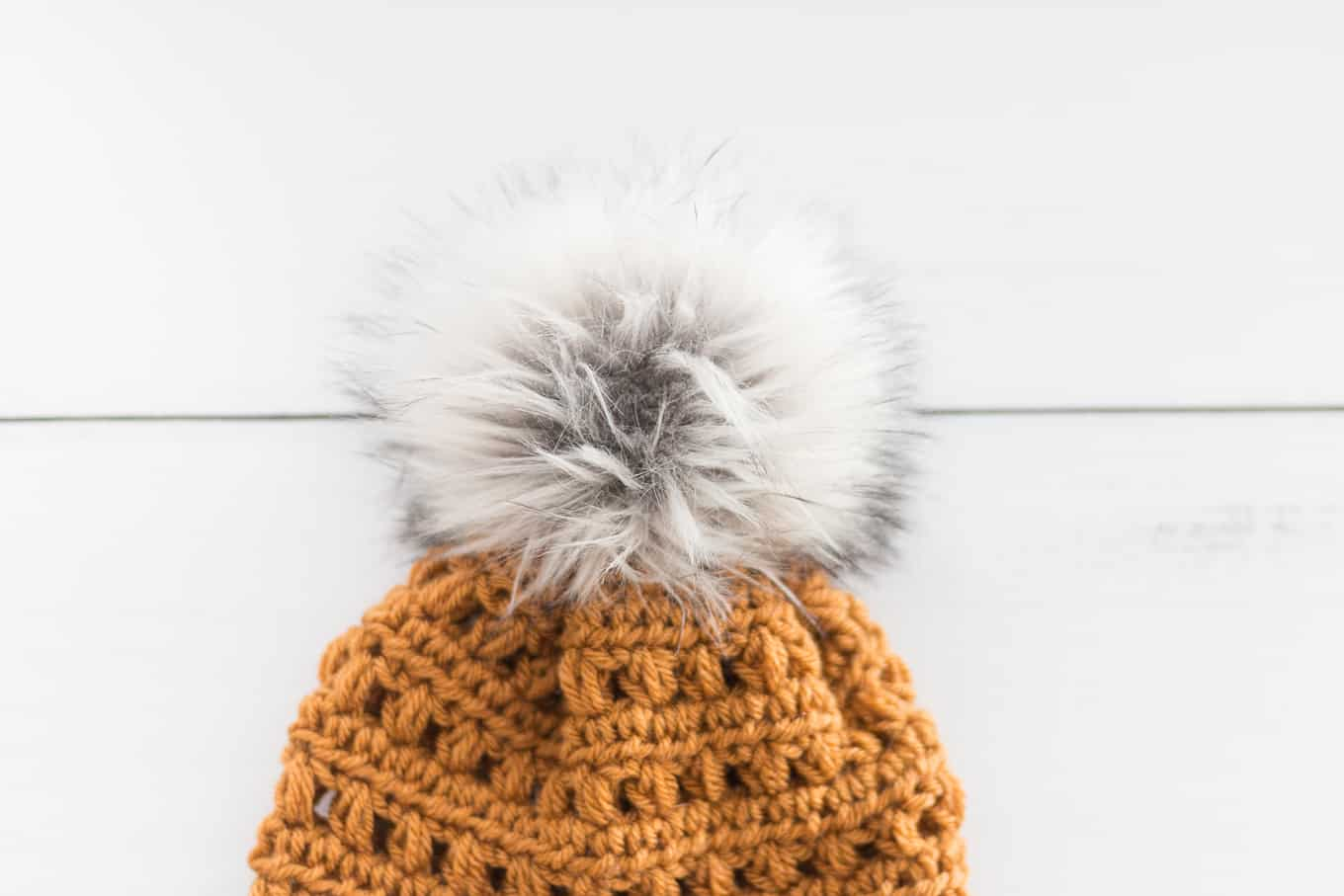 Crochet Hat With Fur Pom Pom Free Pattern Rescued Paw Designs