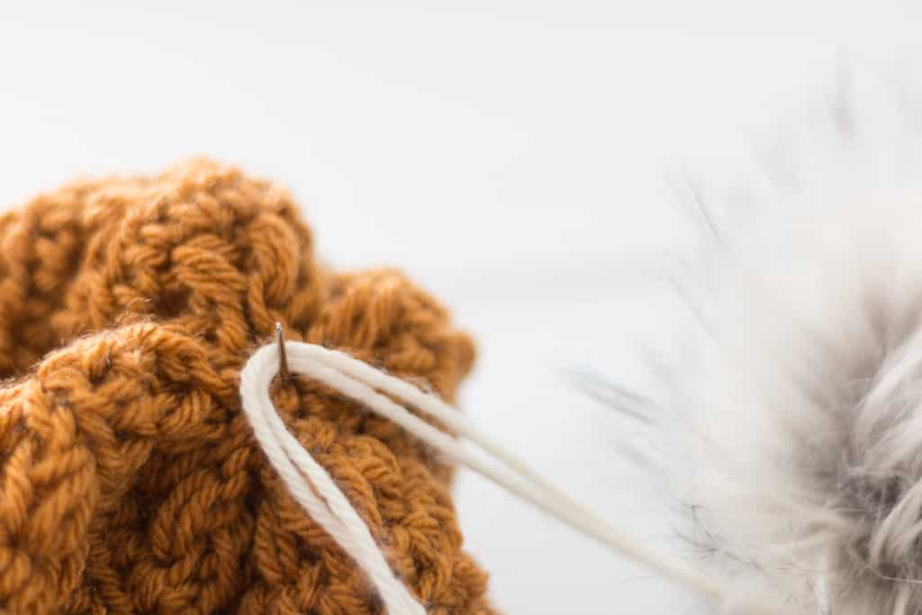 How to Attach a Pom Pom to a Crochet Hat