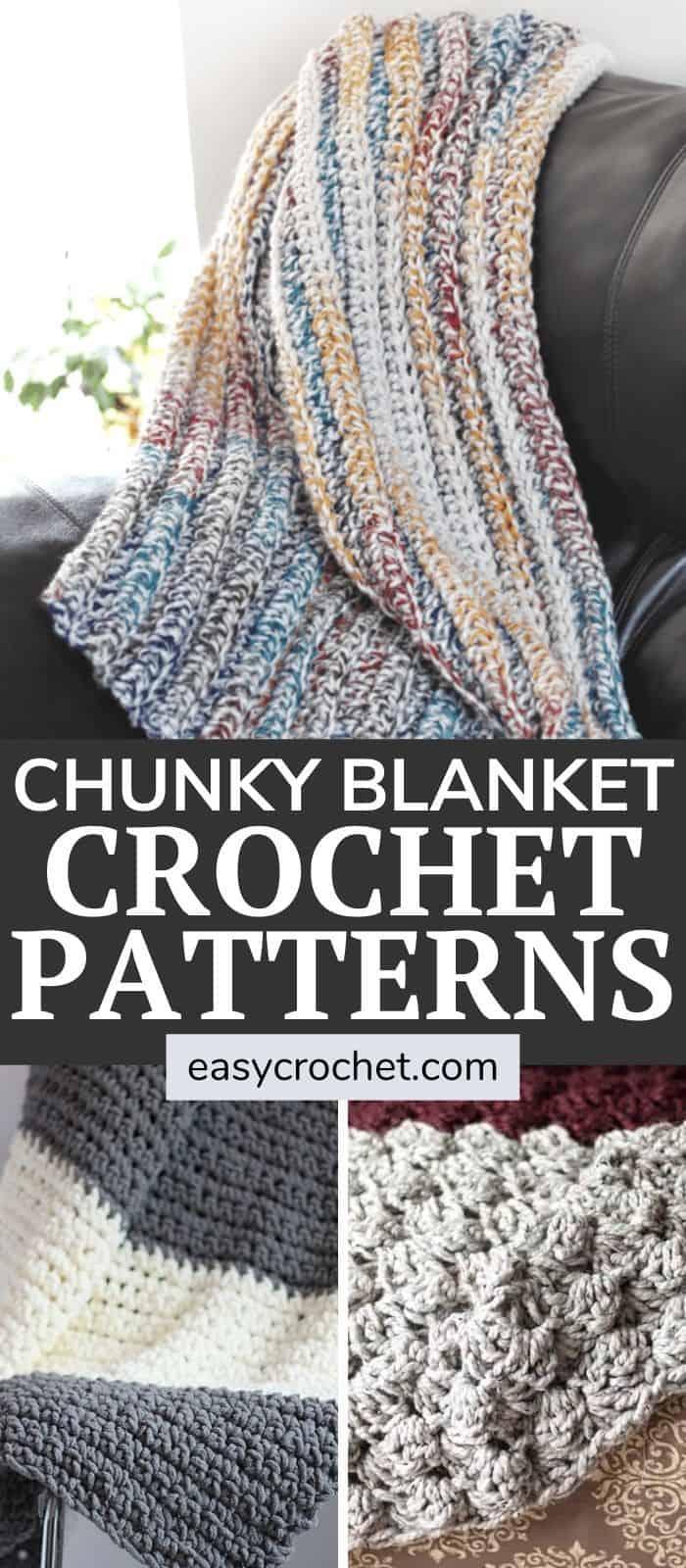 Free Chunky Crochet Blankets That Use Bulky Yarn via @easycrochetcom