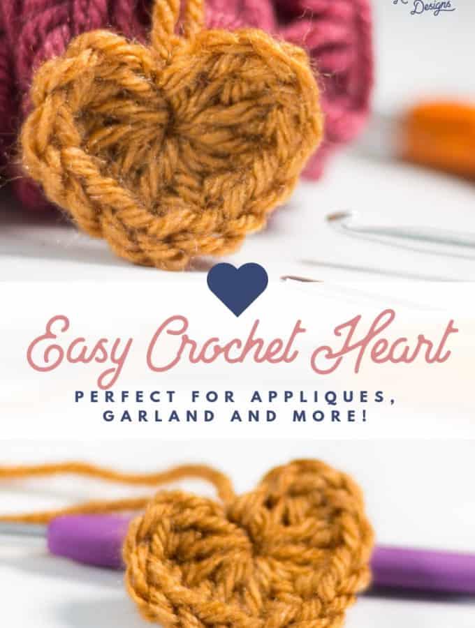 Easy Crochet Heart Pattern Free