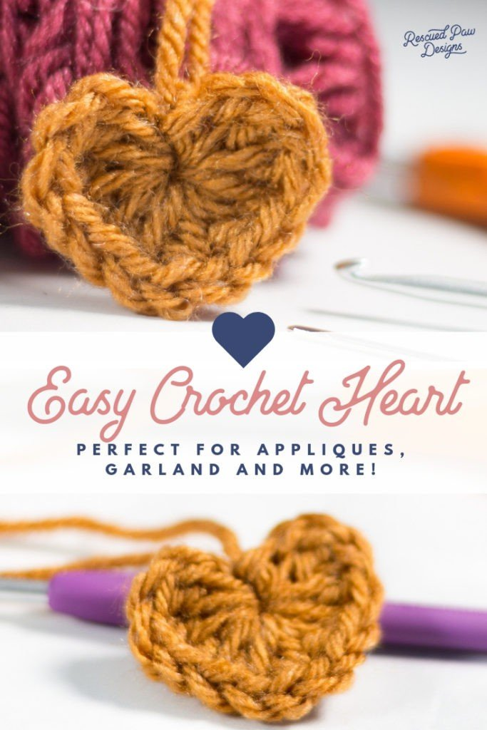 How to Make a Crochet Heart - Rescued Paw Designs