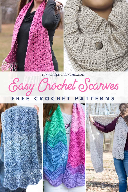 Easy Crochet Scarf Patterns