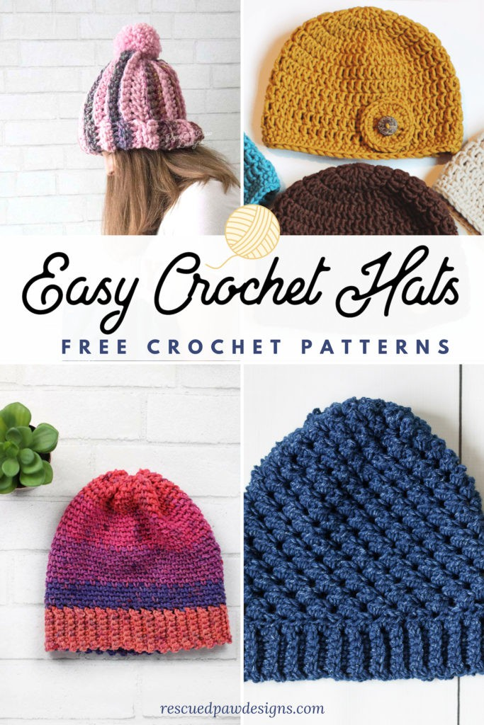 Easy Crochet Hat Patterns for Beginners - Rescued Paw Designs