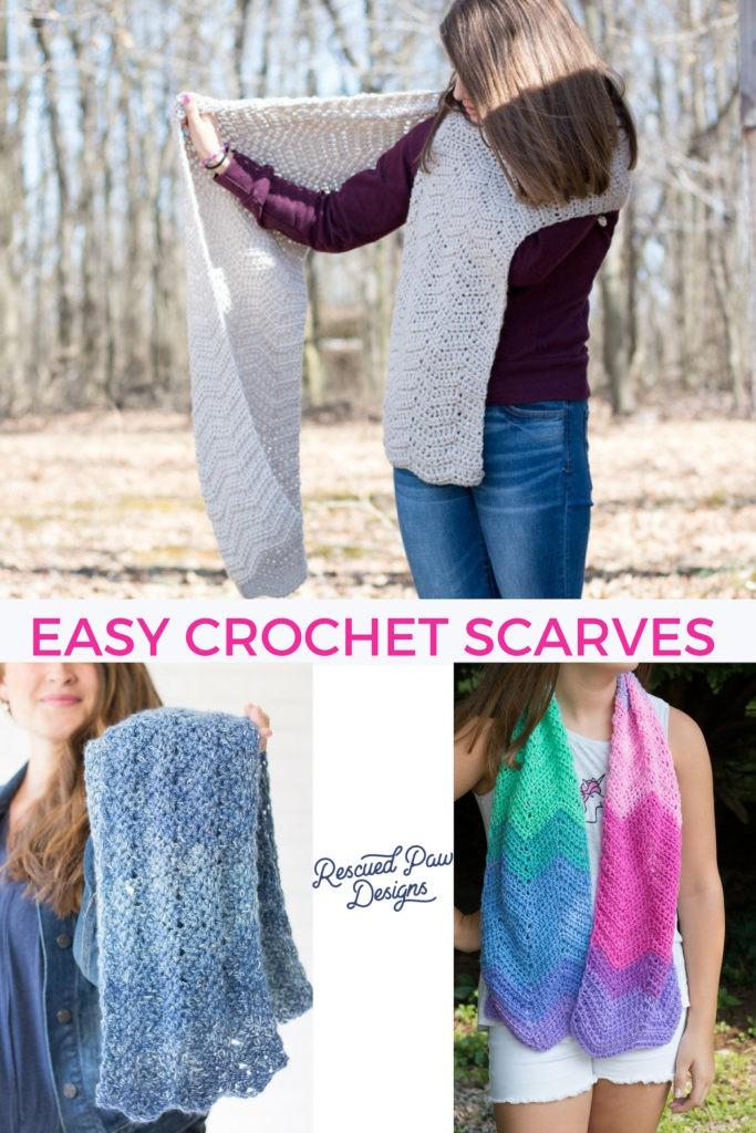 Easy Crochet Scarves