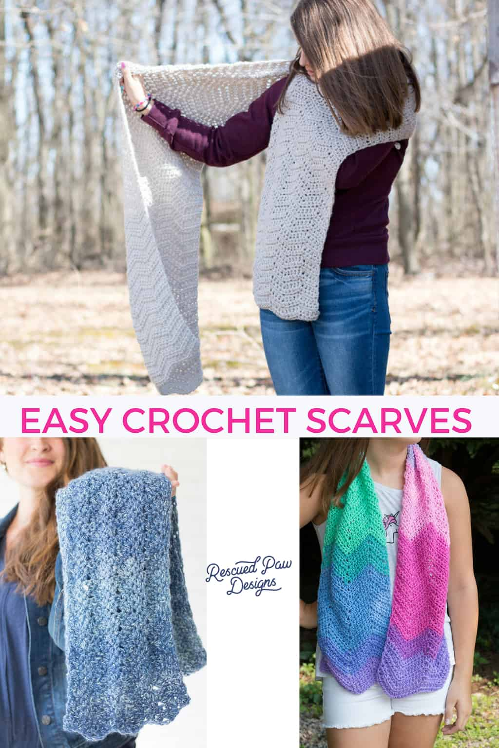5 Free Quick And Easy Crochet Scarf Patterns Rescued Paw Designs