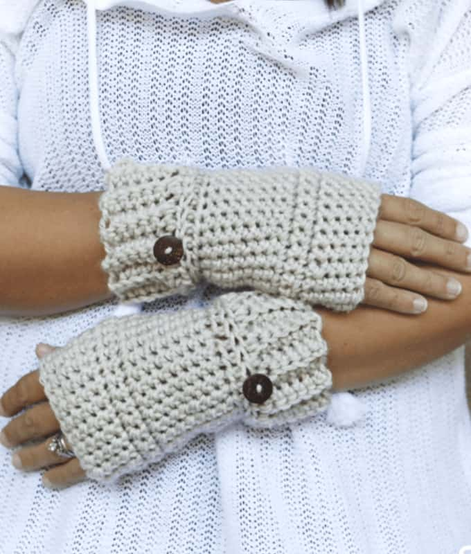 Easy Fingerless Gloves Free Pattern