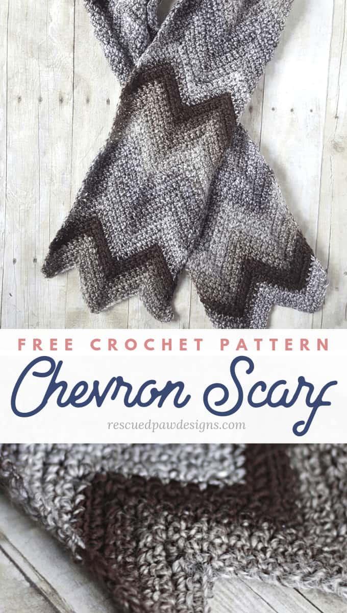 Chevron Scarf Crochet Pattern Rescued Paw Designs