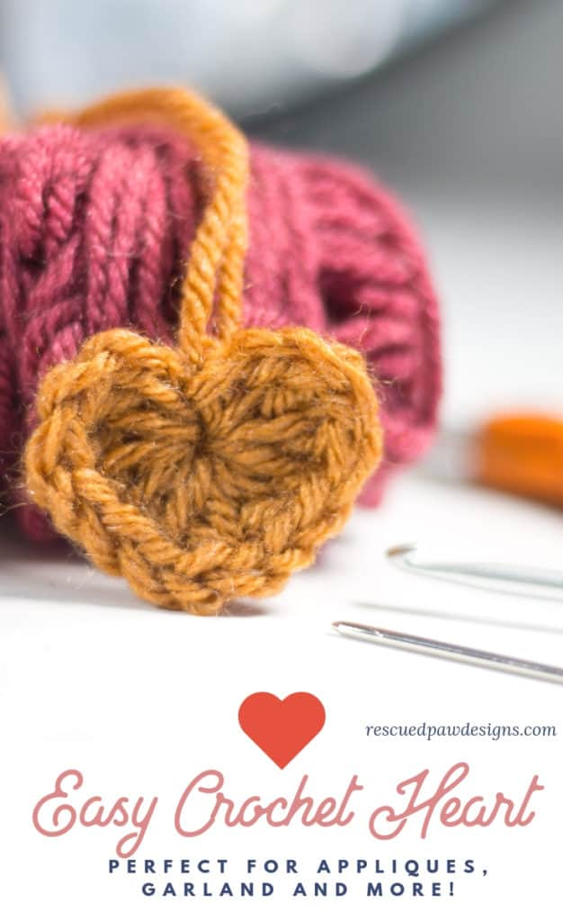 How To Make A Crochet Heart Rescued Paw Designs Crochet