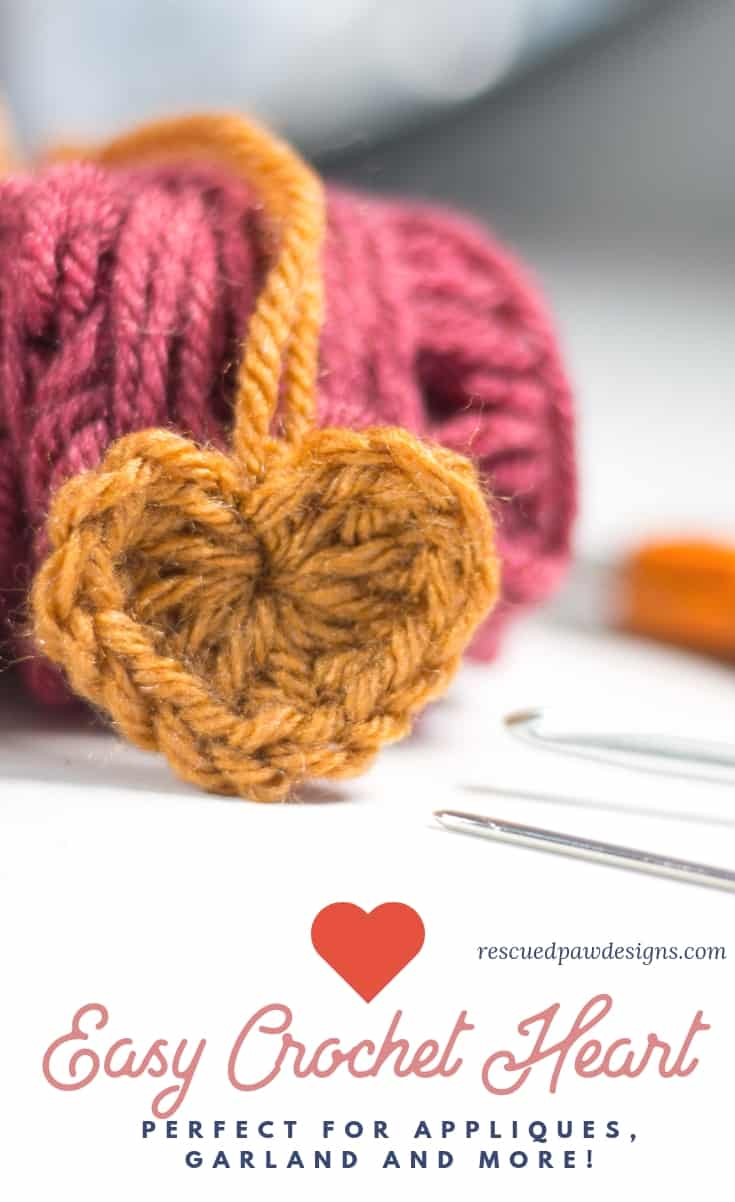 How To Make A Crochet Heart Rescued Paw Designs