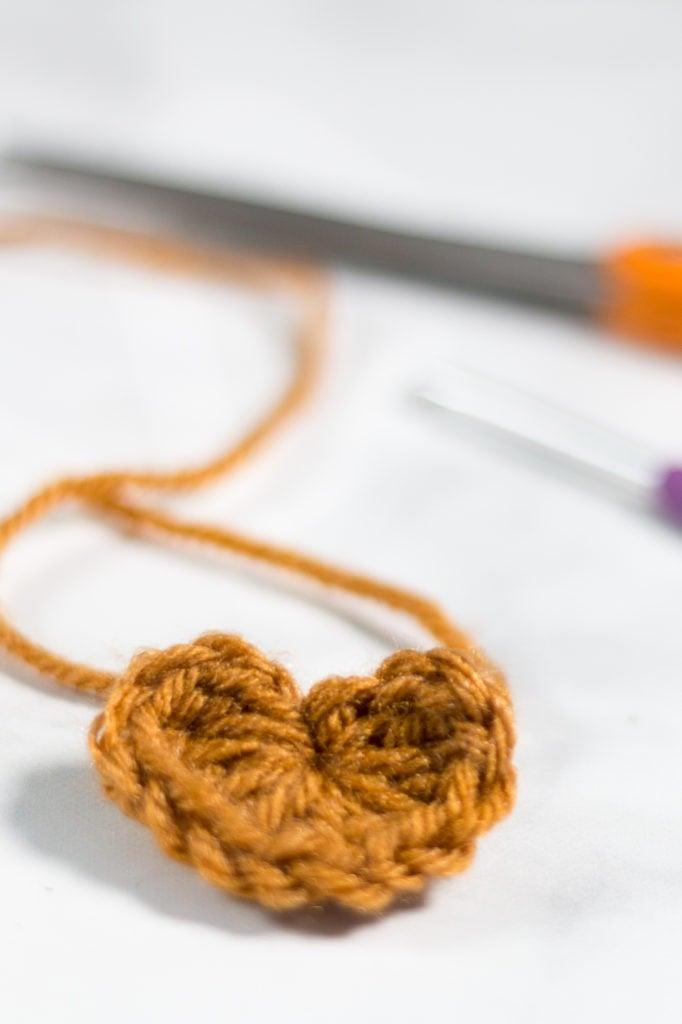 Crochet Mini Heart Free Pattern