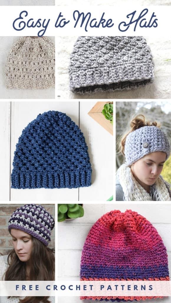 7 Free Crochet Hat Patterns Easy Crochet Hat Patterns