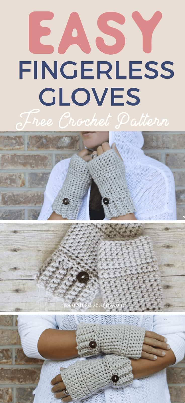 Simple Crochet Wrist Warmers