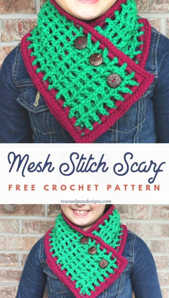 Mesh Stitch Crochet Scarf