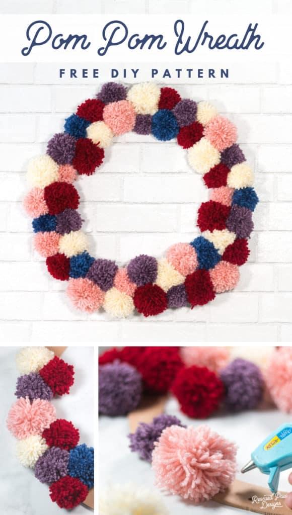 DIY Pom Pom Wreath Pattern