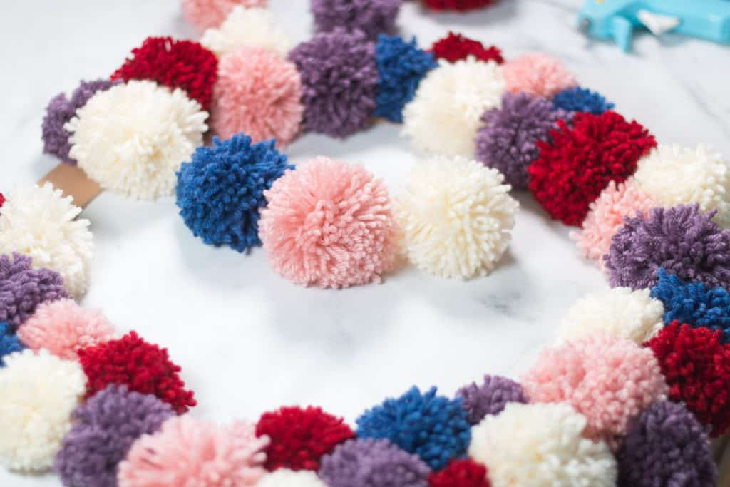 Pom Poms for a Wreath