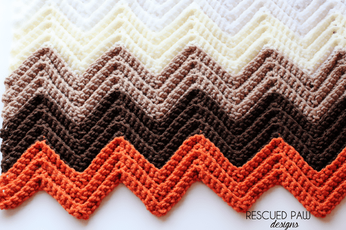 Chevron Single Crochet in the Back Loop Tutorial via Easy Crochet