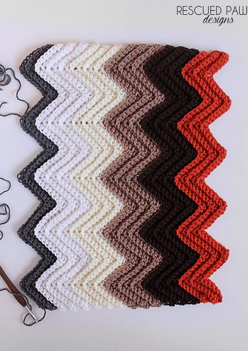 Chevron Single Crochet in the Back Loop Tutorial