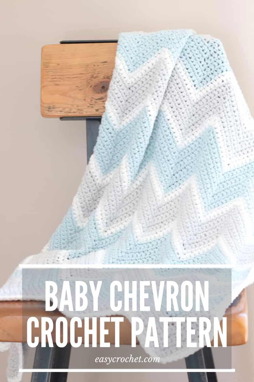 CHEVRON Baby Blanket Pattern via @easycrochetcom