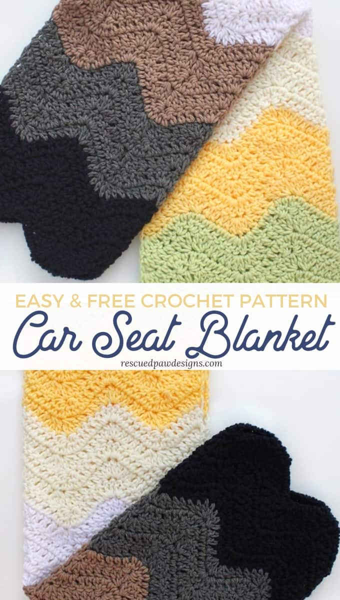 Crochet Car Seat Blanket Pattern Rescued Paw Designs