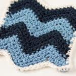 Chevron Dishcloth Crochet Pattern