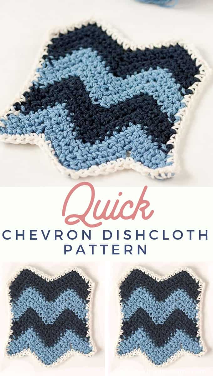 Chevron Stitch Dishcloth Pattern
