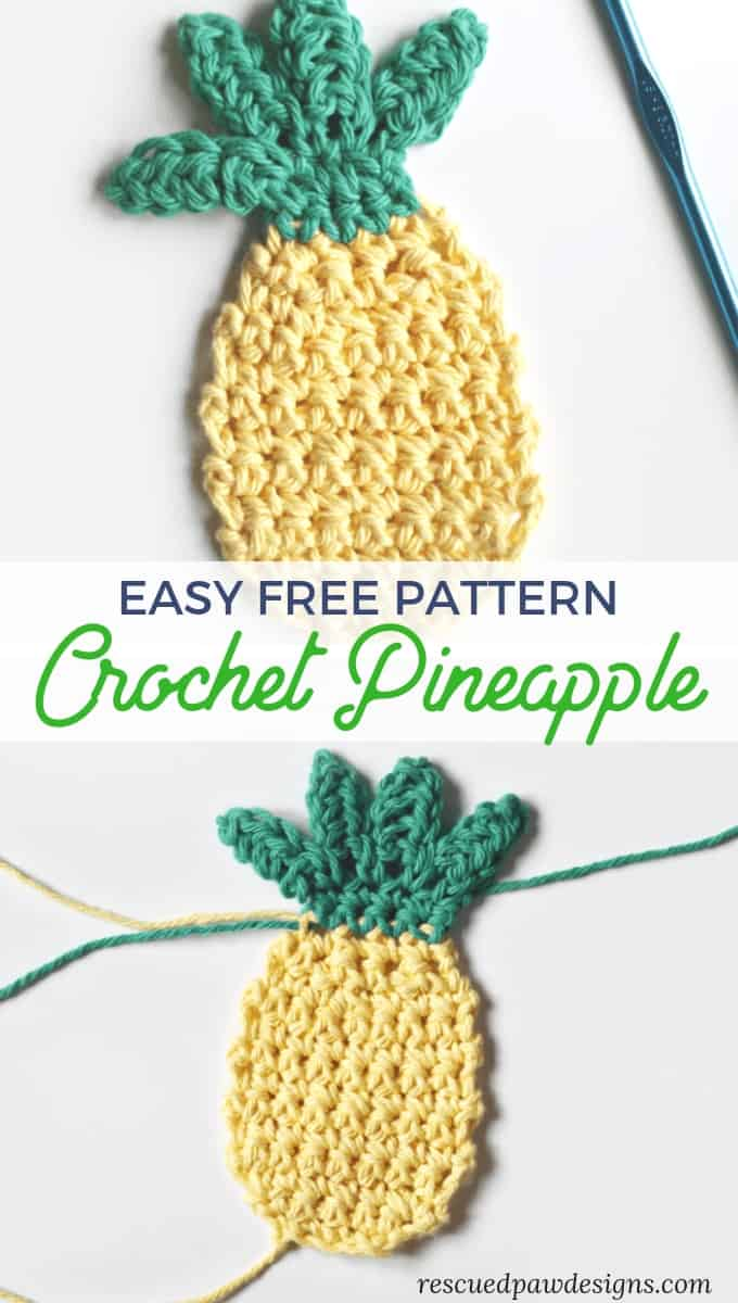 Easy Free Pattern for A Crochet Pineapple