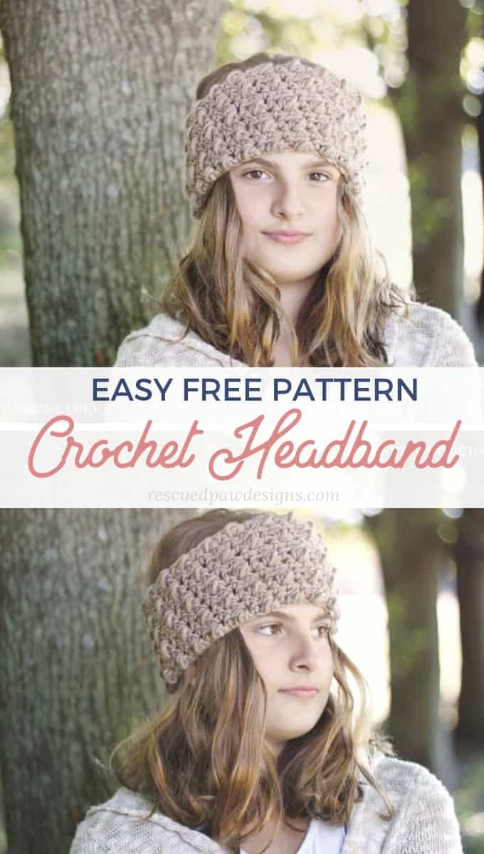 Cozy Crochet Headband Pattern Rescued Paw Designs