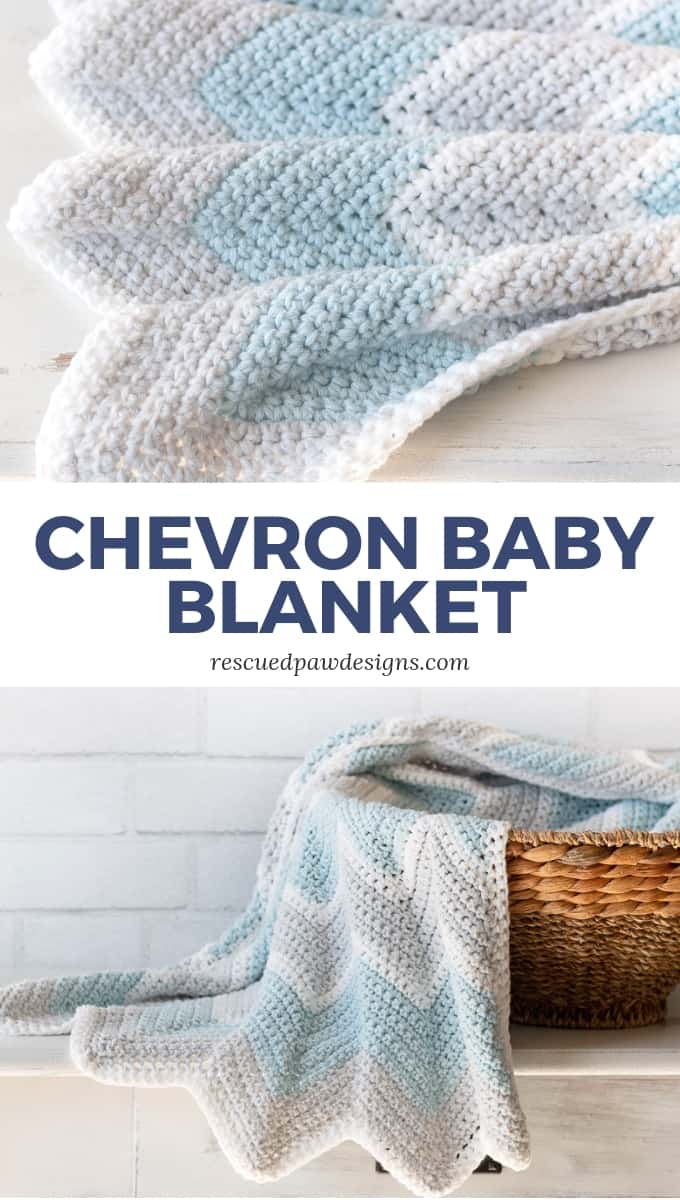 Crochet Chevron Baby Blanket Rescued Paw Designs