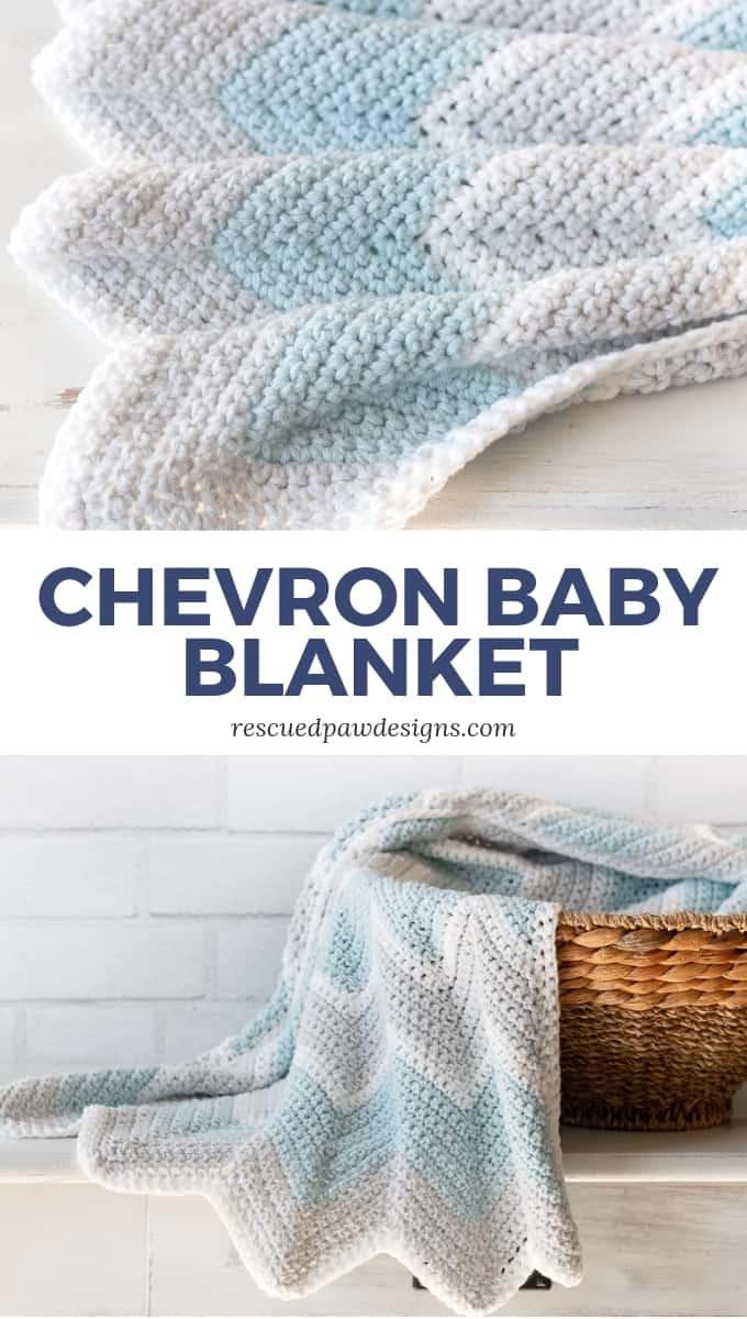 Crochet Baby Blanket Pattern Chevron