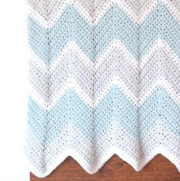baby chevron crochet blanket
