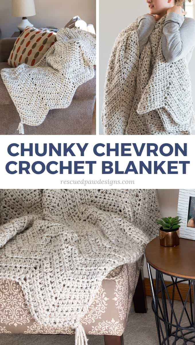 Chunky Chevron Crochet Blanket Pattern