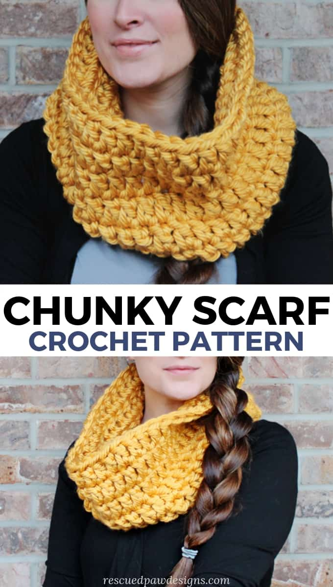 Chunky Crochet Scarf Pattern Easycrochet Com
