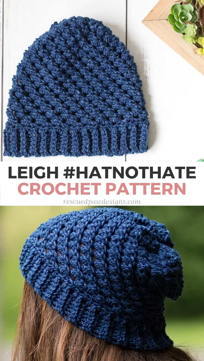 Leigh Hatnothate Hat Crochet Pattern Rescued Paw Designs