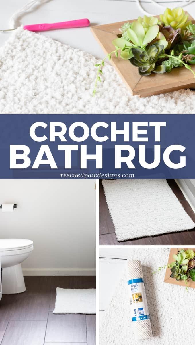 Crochet Bath Mat Rug Pattern