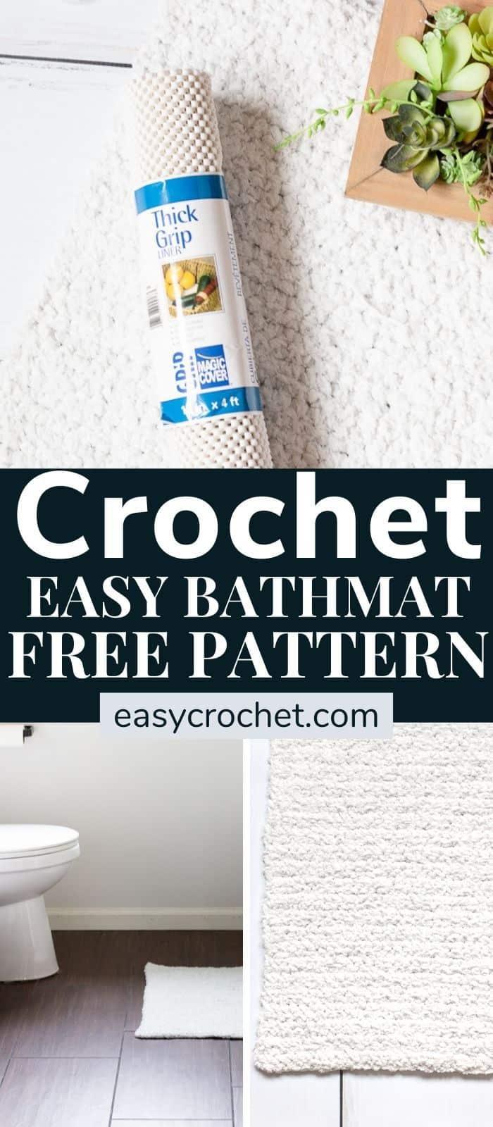 Easy Crochet Bath Mat Pattern via @easycrochetcom