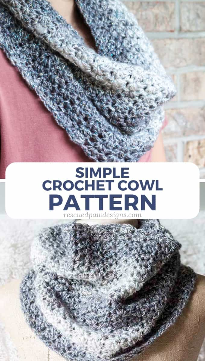 Simple Crochet Cowl Pattern