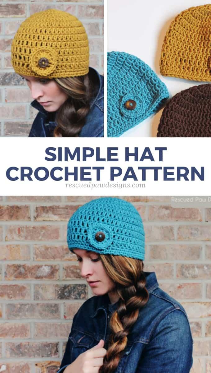 Double Crochet Beanie Pattern