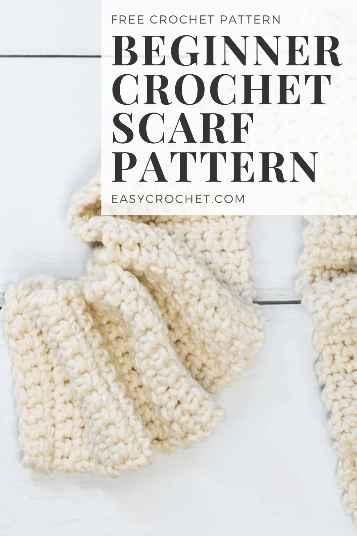 Beginner Scarf Crochet Pattern - Free crochet pattern for beginners that is easy to work up! Learn how to crochet an easy scarf today! via @easycrochetcom