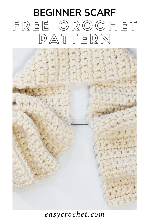 Beginner Scarf Crochet Pattern - Free crochet pattern for beginners that is easy to work up! via @easycrochetcom